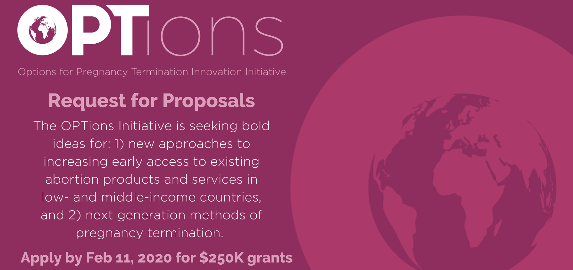 OPTions Initiative | Request for Proposals