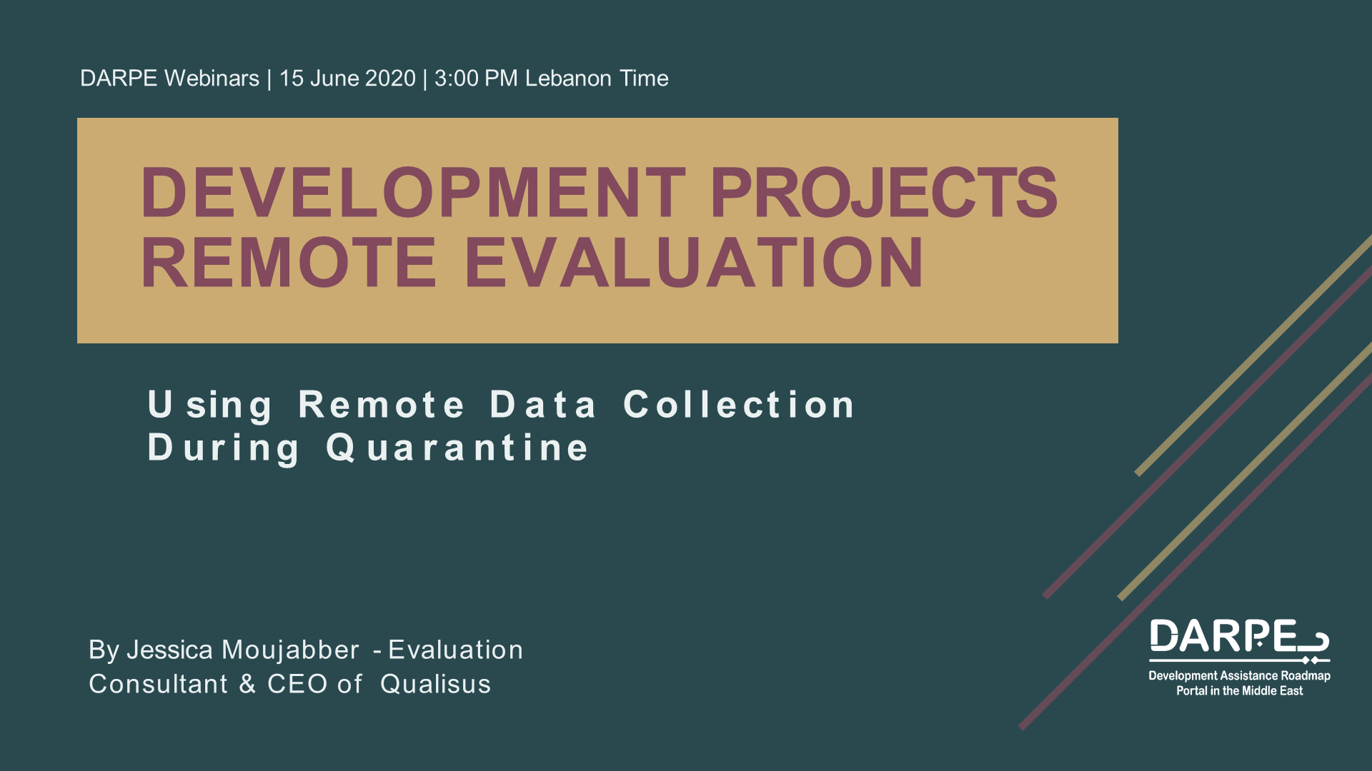 Development Projects Remote Evaluation