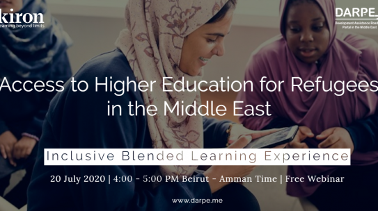 Access to Higher Education for Refugees in the Middle East